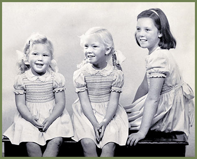 Image of young girls in the 1950s
