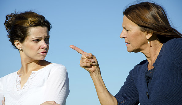 Image of two sisters angry with each other