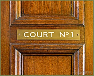Image of a courtroom door