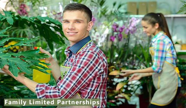 Image of family members who run a florist business