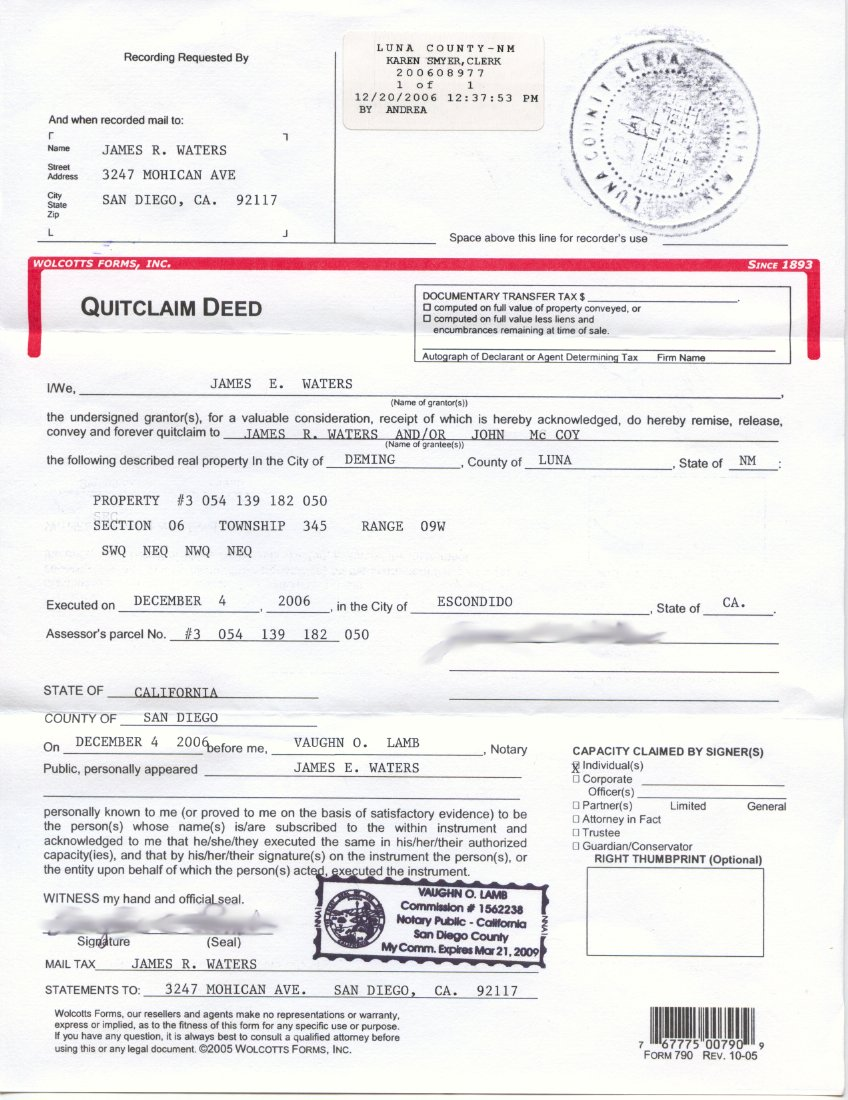 fraudulent property deed