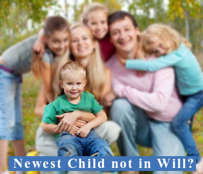 Newest child omitted from Will?
