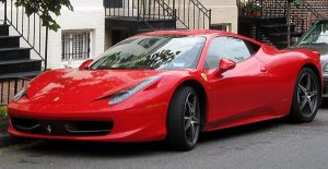 Image of red Ferrari 458