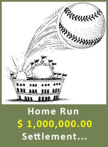 home run - settled for $1,000,000.00